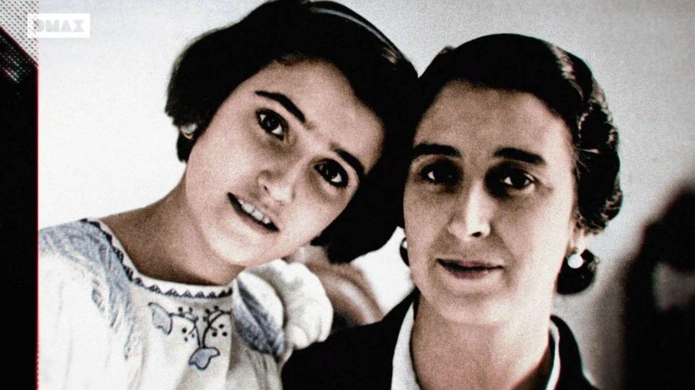 Carmen Polo junto a su hija, Carmen Franco.
