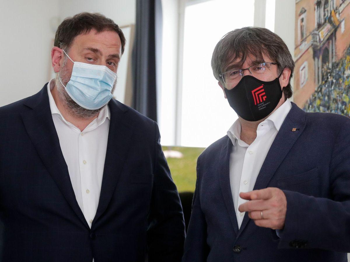 Foto: Carles Puigdemont y Oriol Junqueras. (EFE)