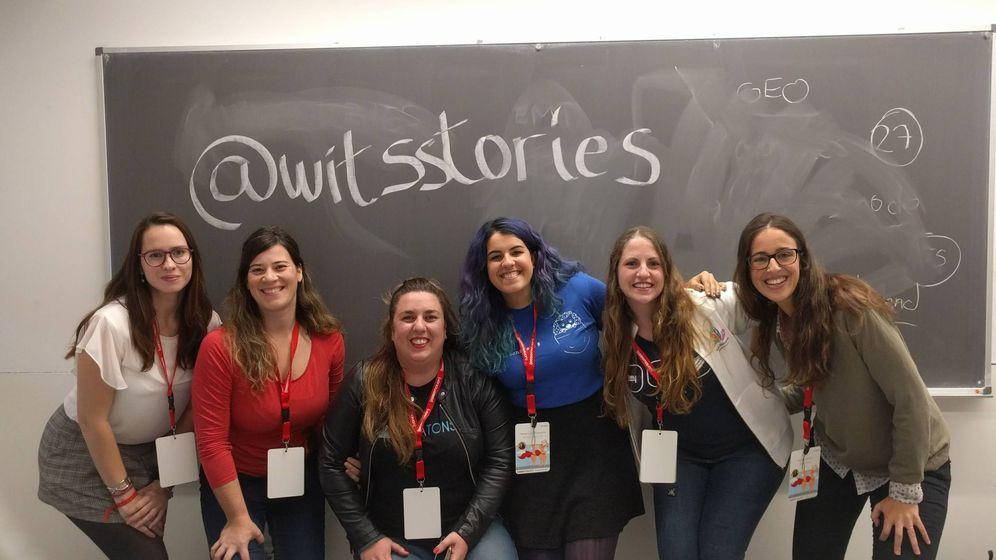 Foto: Mujeres participantes en 'Women in Tech'. De izquierda a derecha: Marta Lobo, Paola García, Inés Huertas, Nerea Luis, Laura Morillo-Velarde y Marina Serrano. (Imagen: cedida por Nerea Luis)