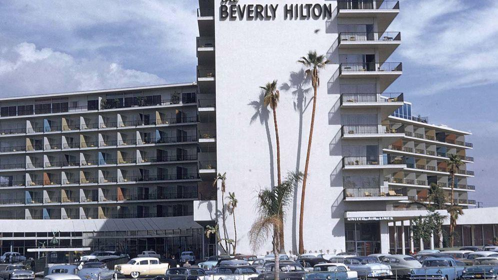 Foto: El Beverly Hilton de Los Angeles en los años 50.