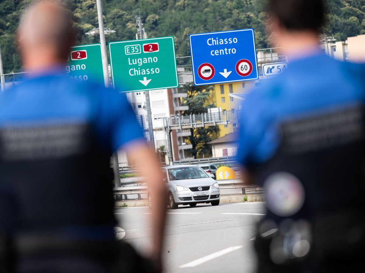Foto: Frontera de Suiza con Italia. (Reuters)