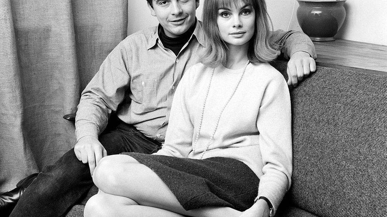 David Bailey y Jean Shrimpton, en su casa de Londres en 1963. (Getty)