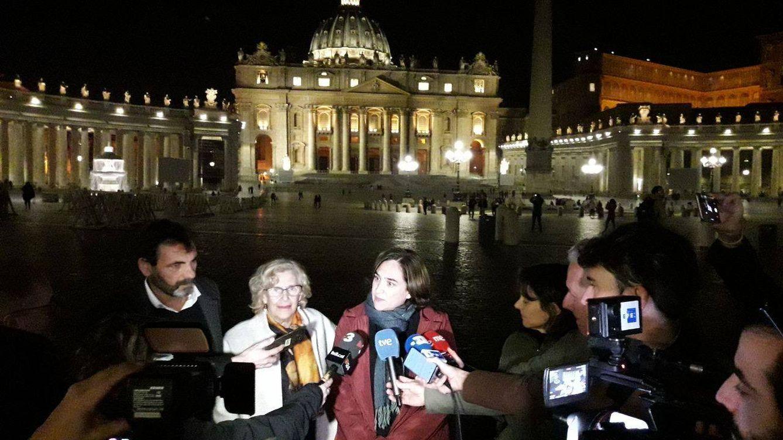 Foto: Imagen compartida por Manuela Carmena en sus redes de la reunión mantenida en Roma.