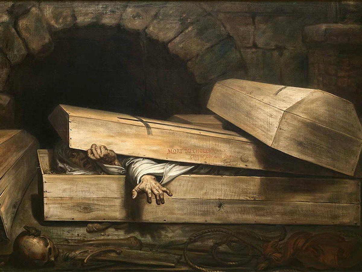 Foto: 'El entierro prematuro', obra de Antoine Wiertz