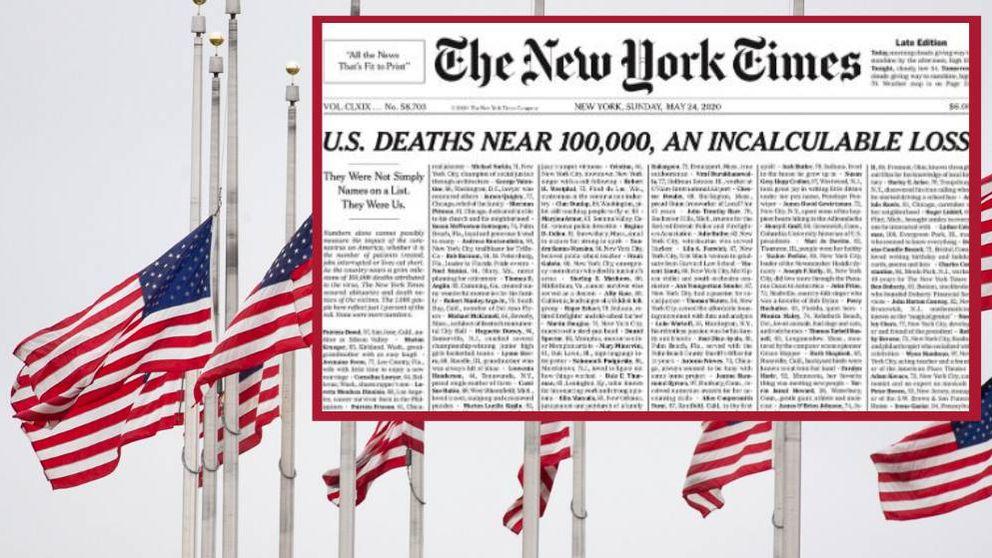 La portada de 'New York Times' que nadie quería hacer: los 100.000 muertos de EEUU