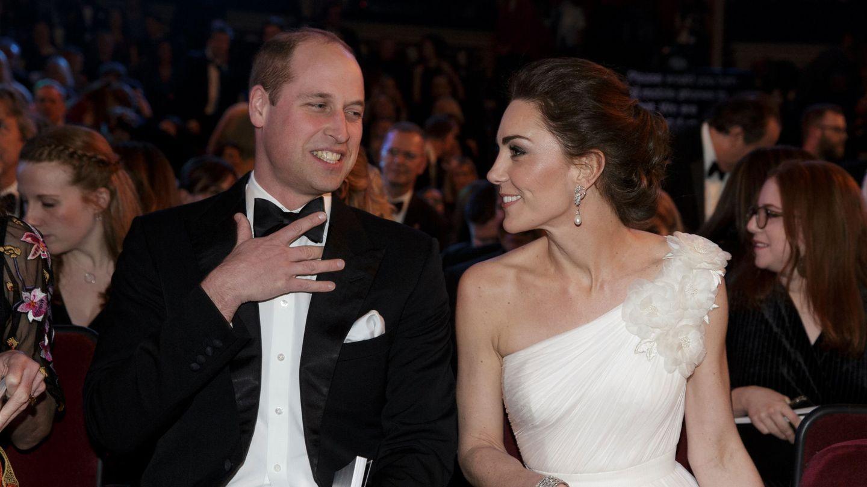 Guillermo y Kate, en los Bafta de 2019. (Reuters)