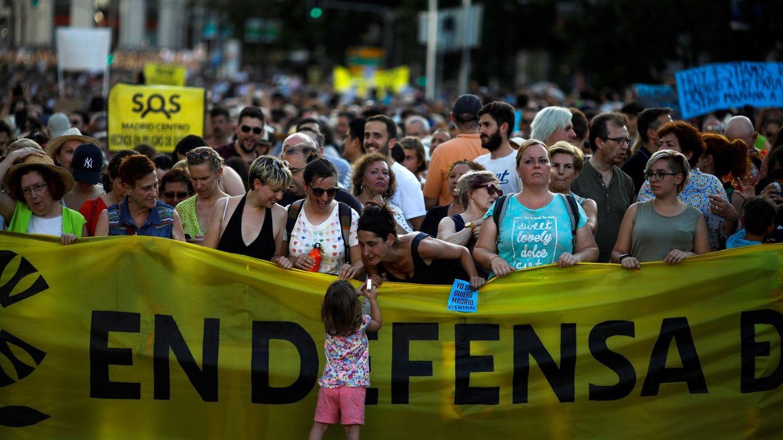 Foto: Vista general de la manifestación de este sábado en Madrid. (EFE)