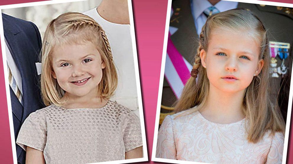 La princesa Estelle se 'inspira' en Leonor para su última fotografía oficial