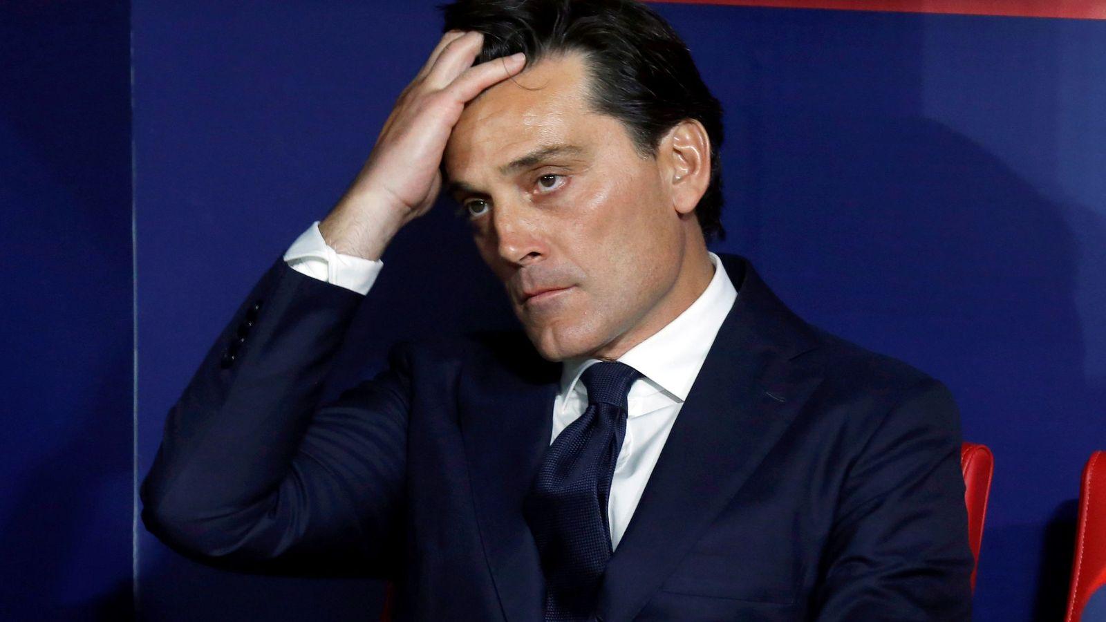 Foto: El entrenador italiano del Sevilla FC, Vincenzo Montella, durante la final de la Copa del Rey. (EFE)