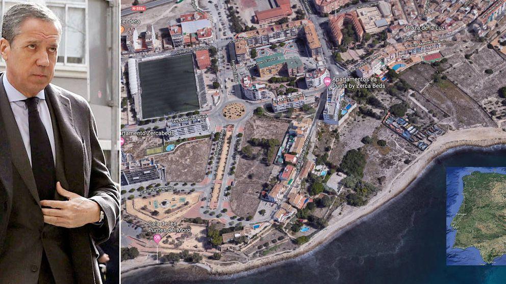 Las tres parcelas en primera línea de playa que mantienen a Zaplana en prisión