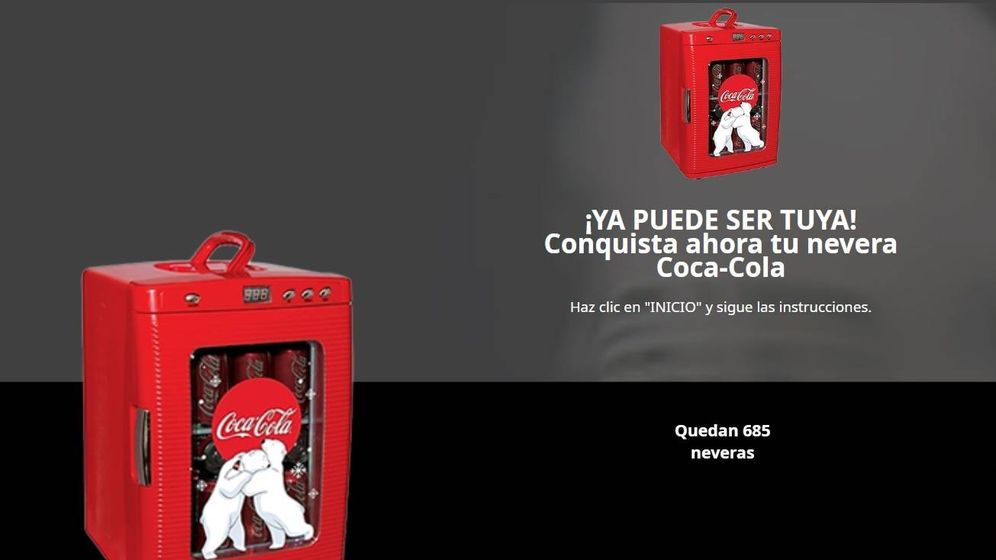 Foto: Así es la página web que suplanta a Coca-Cola.