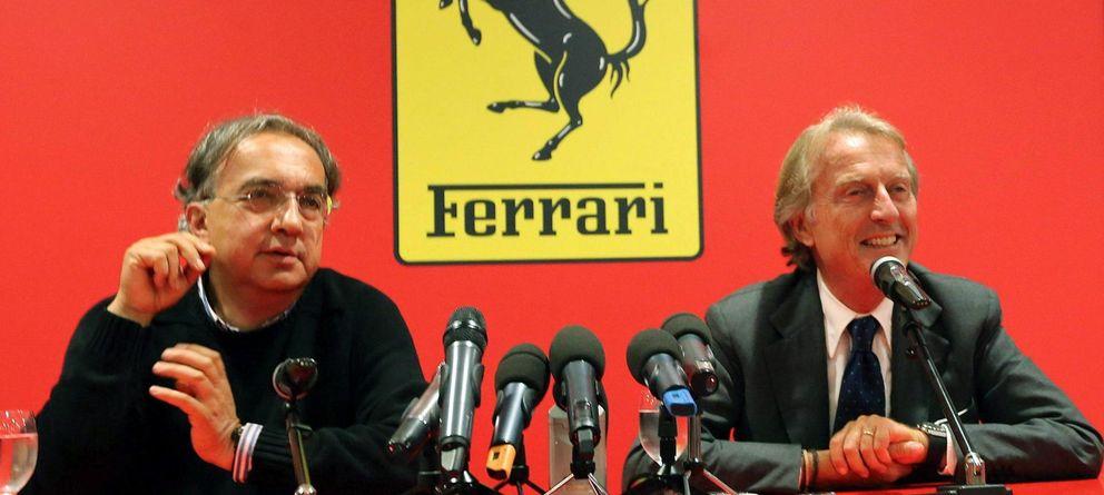 Foto: El actual y el anterior presidente de Ferrari, Marchione y Luca di Montezemolo.
