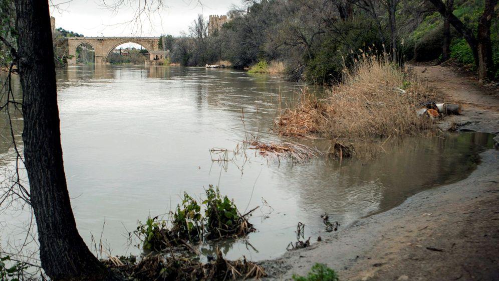 Foto: Crecida del río tajo a su paso por Toledo. (EFE)