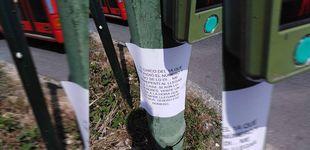 Post de El amor espera en la marquesina del autobús de A Coruña