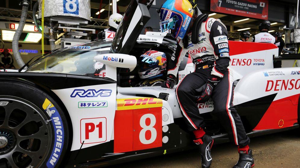 Foto: El Toyota 8 de Alonso no pudo conseguir su tercera pole consecutiva. (EFE)