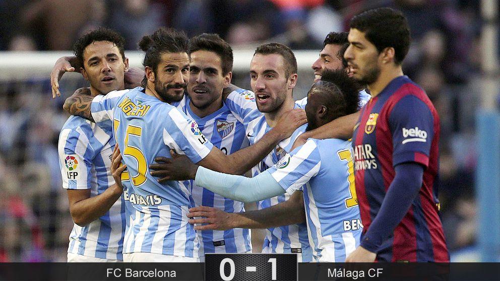 El Málaga confirma las palabras de  Luis Enrique: nada ha cambiado