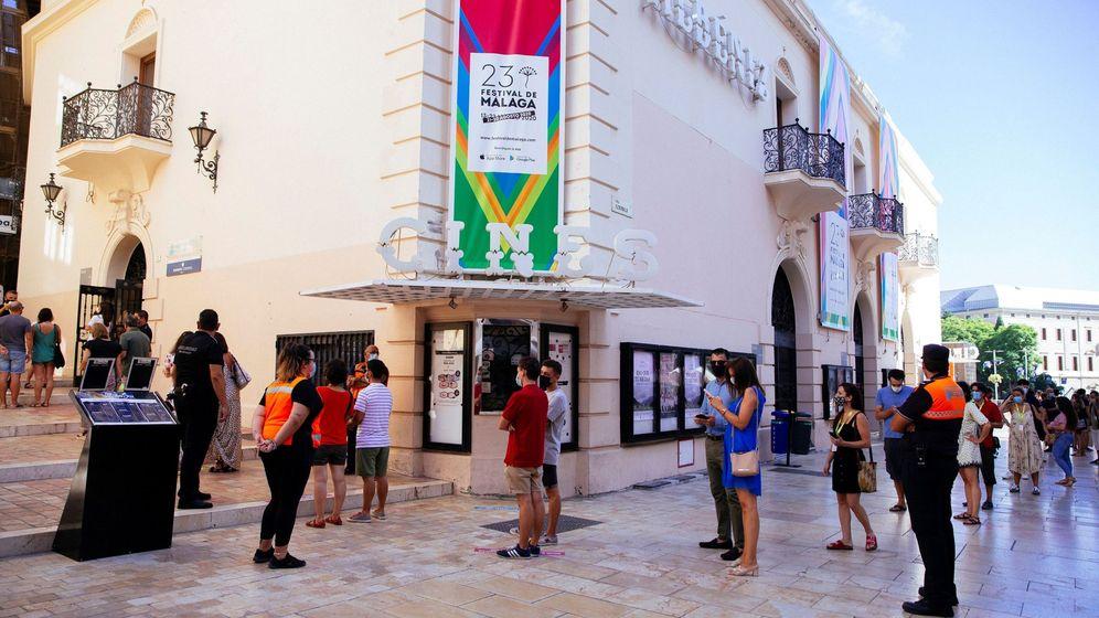 Foto: Una vista del cine Albéniz, en el pasado Festival de Málaga. (EFE)