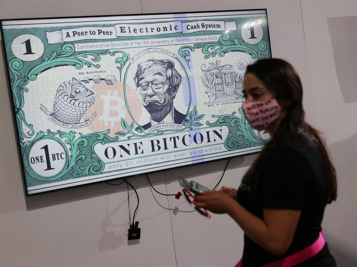 Foto: Convención de criptomonedas en Miami. (Getty)