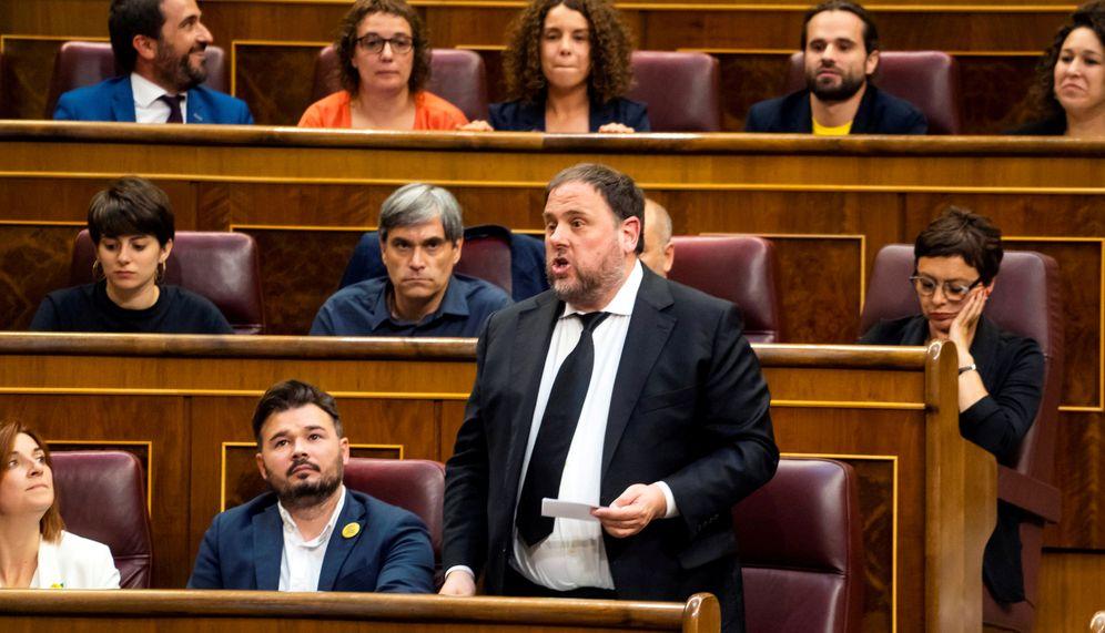 Foto: Oriol Junqueras jura el cargo en el Congreos de los diputados el pasado mayo. (Reuters)