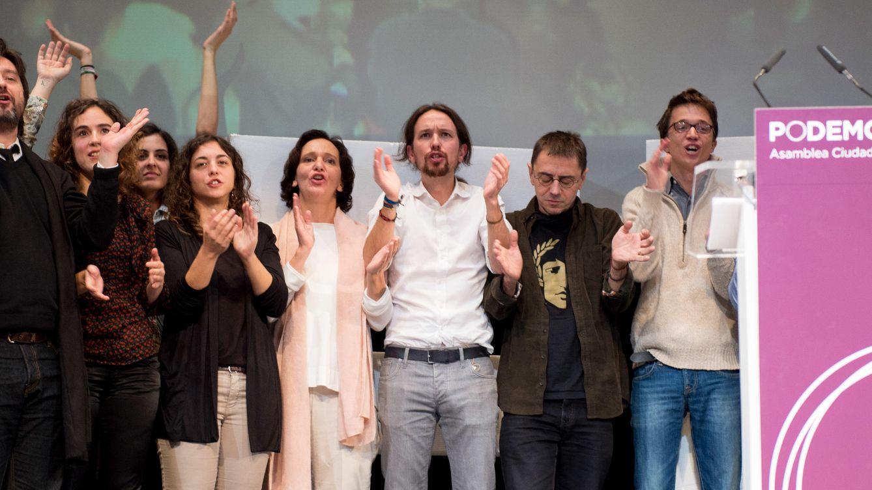 Foto: Acto de clausura en la asamblea ciudadana de 2014, en la que Pablo Iglesias fue elegido secretario general de Podemos. (Foto: Daniel Muñoz)