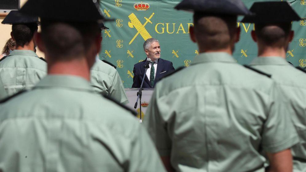 Foto: Marlaska en un acto de la Guardia Civil en Madrid el pasado 1 de julio. (EFE)
