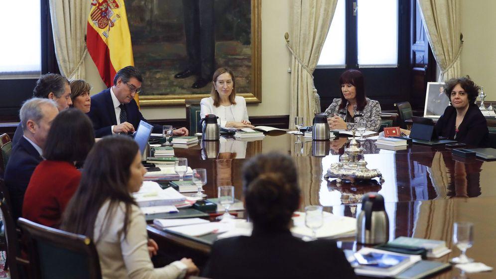 Foto: Reunión de la Mesa del Congreso. (EFE)