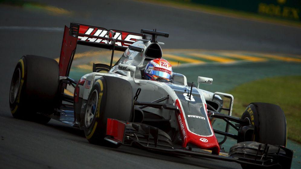 Foto: El Haas de Romain Grosjean en su primera carrera.
