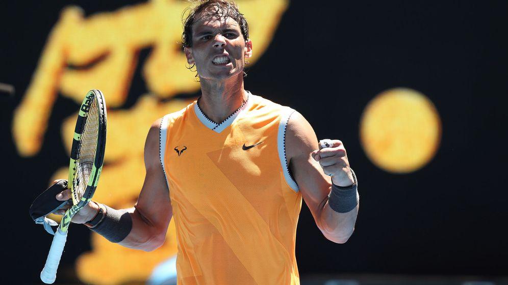 Foto: Nadal celebra su victoria ante Duckworth en Australia. (Reuters)