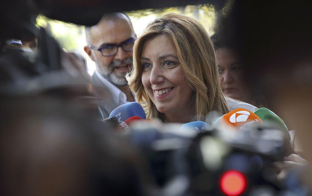 Foto: Susana Díaz, en declaraciones a los medios, este 14 de septiembre en Sevilla. (EFE)