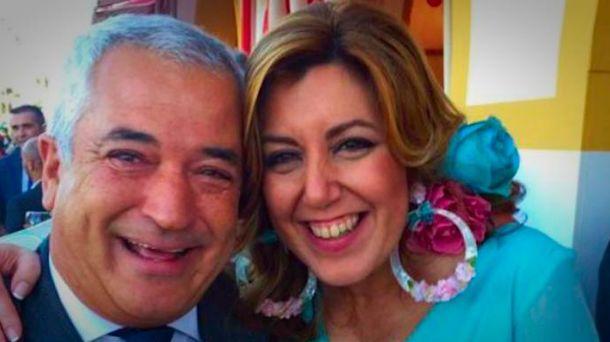 Foto: El presidente de Ausbanc difundía en Twitter sus fotos con Díaz. (@LuisPineda_)