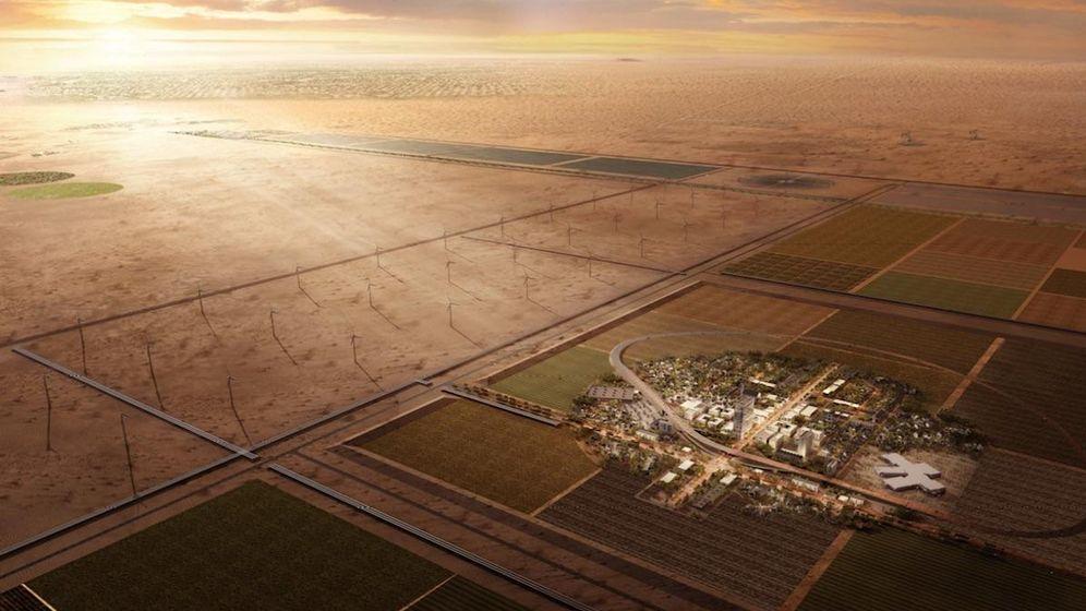 Foto: El pueblecito futurista que solo verás a vista de dron. (CITE)