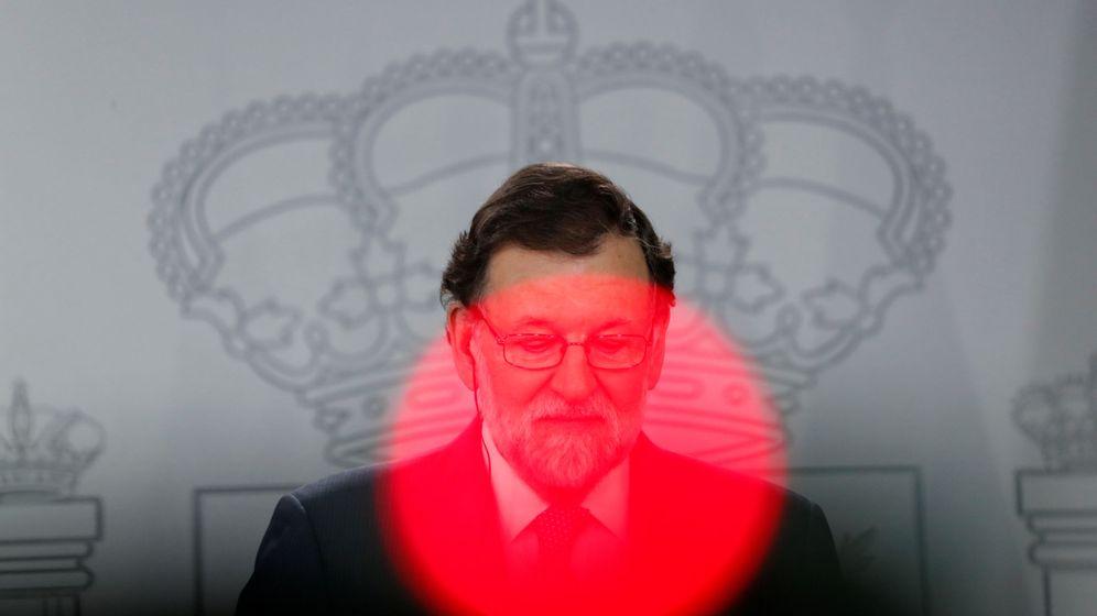 Foto: Mariano Rajoy, en la rueda de prensa que ha mantenido con el primer ministro danés, Lars Lokke Rasmussen. (EFE)