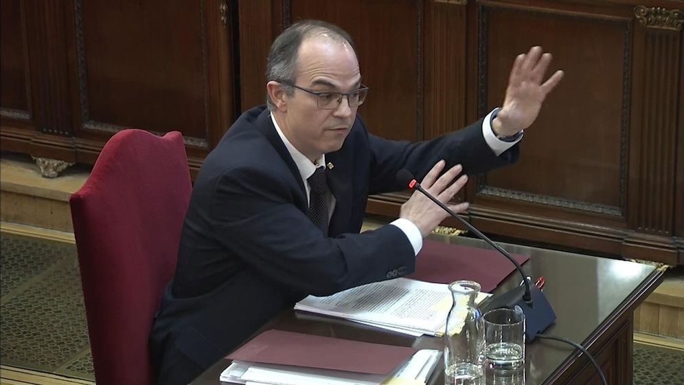 Foto: La declaración del 'exconseller' de Presidencia Jordi Turull en el juicio del 'procés'. (EFE)