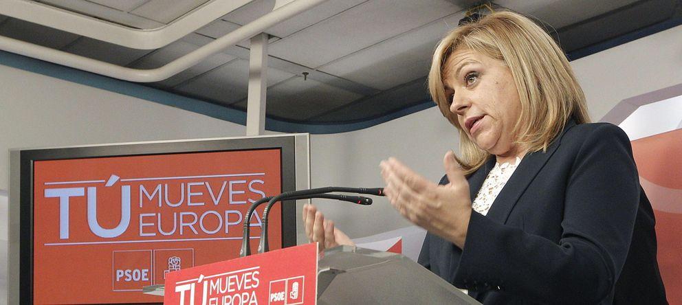 Foto: Elena Valenciano en la sede del PSOE. (Efe)