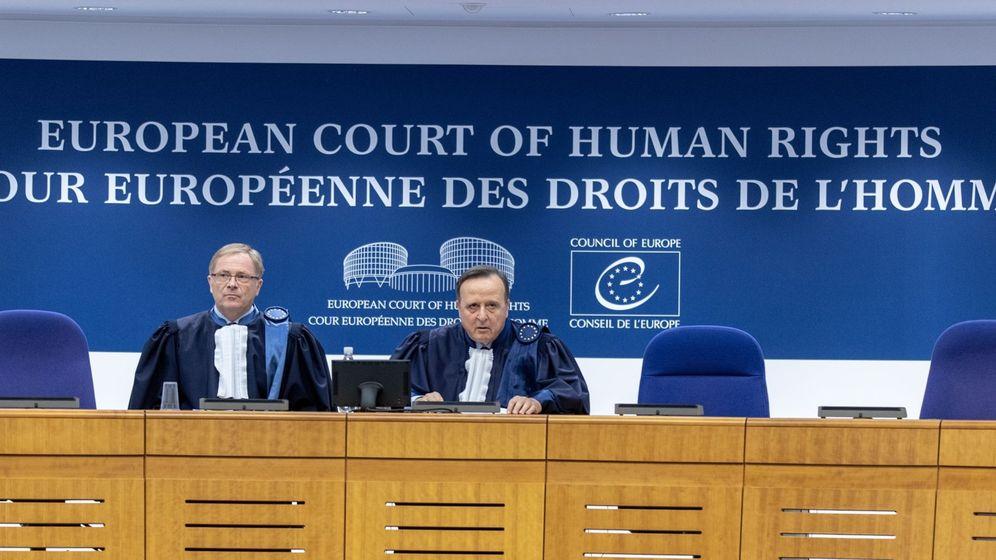 Foto: El presidente del Tribunal Europeo de Derechos Humanos, Guido Raimondi, y el subsecretario de la Gran Cámara, Soren Prebensen, en una imagen de archivo. (EFE)