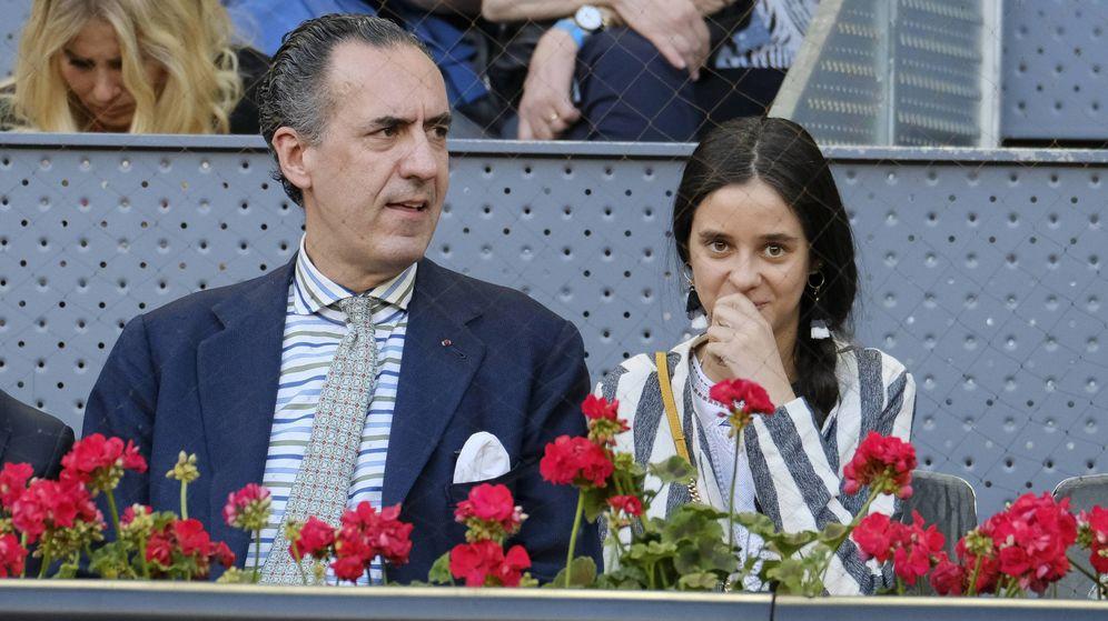 Foto: Jaime de Marichalar y su hija Victoria, en el Mutua Madrid Open de Tenis. (Cordon Press)