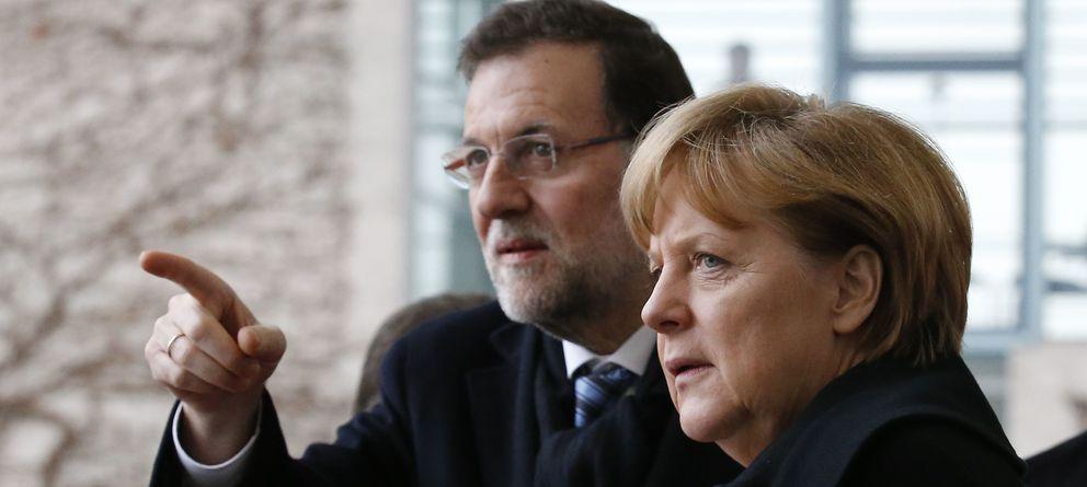 Foto: Mariano Rajoy y Angela Merkel en Berlin. (Reuters)