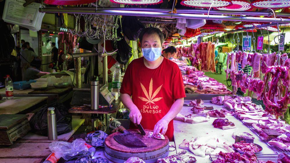 Foto: Mercado chino en Guangzhou, China. (EFE)