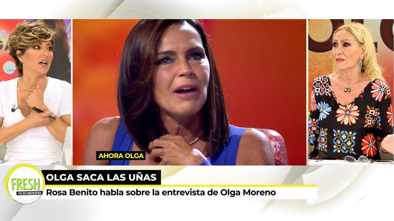 Sonsoles Ónega y Rosa Benito, en 'Ya es mediodía'. (Mediaset)