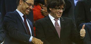 Post de Ni un 5-0 con triplete de Messi salva a Bartomeu de una bronca en el Camp Nou