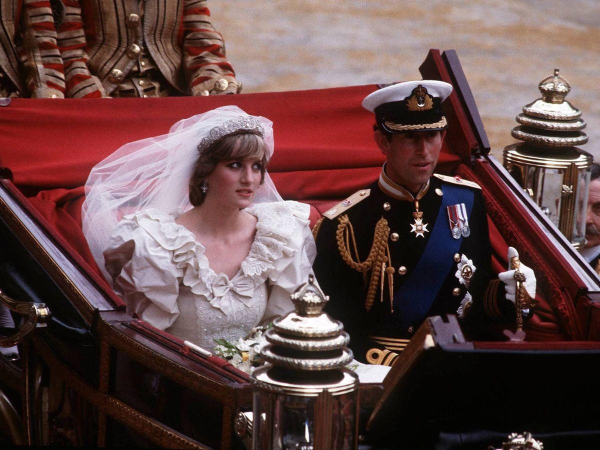 Foto: Diana y Carlos, el día de su boda. (Cordon Press)