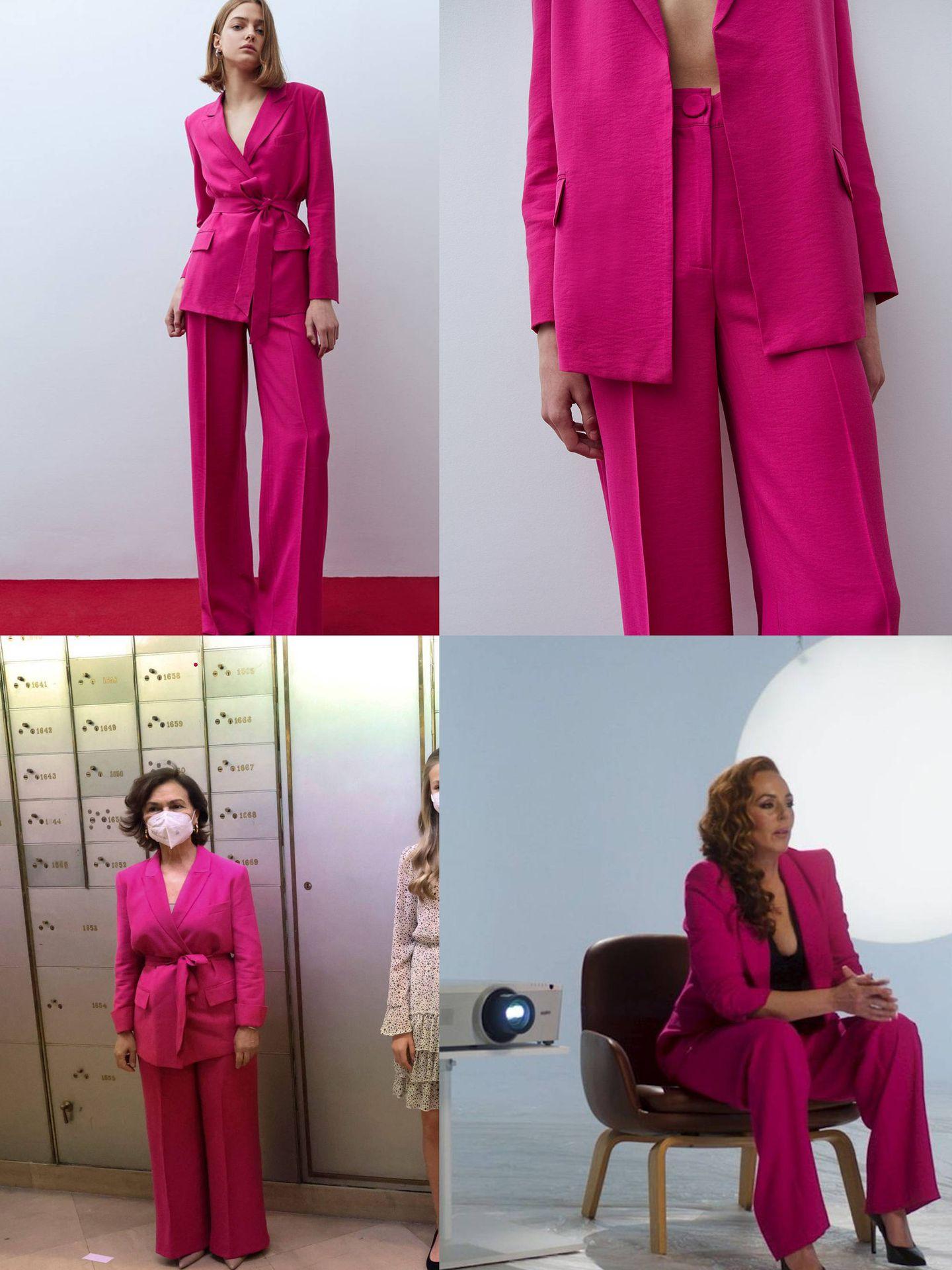 El traje de Sfera, Carmen Calvo (EFE) y Rocío Carrasco (Mediaset).