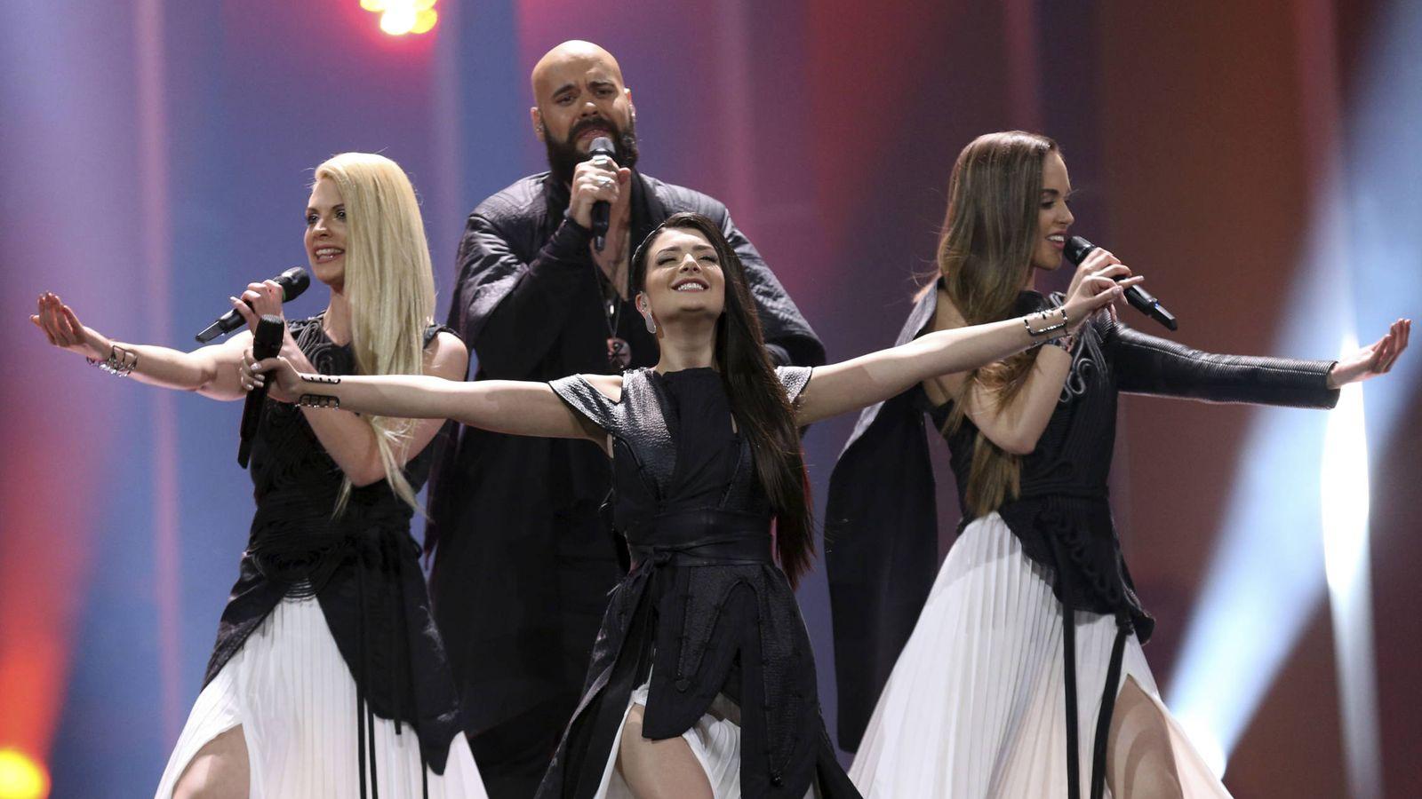 Foto: Sanja Ilić y Balkanika, en la segunda semifinal de Eurovisión 2018. (Gtres)
