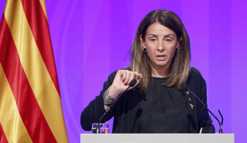 Foto: La 'consellera' de la presidencia y portavoz del Govern, Meritxell Budó. (EFE)