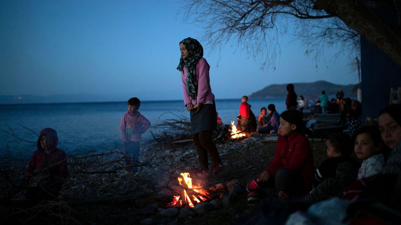 Refugiados en las costas del Egeo. (Reuters)