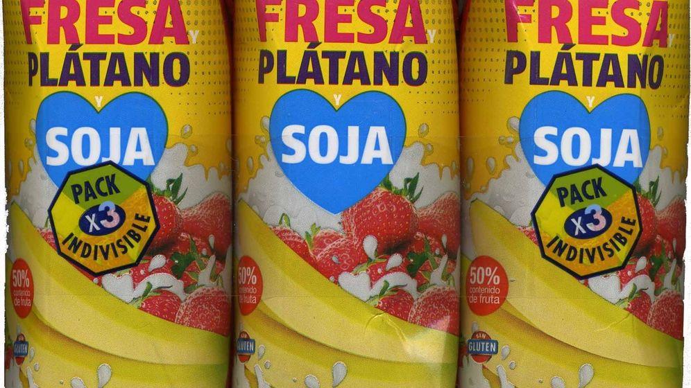 Foto: Bebida de soja con sabor a fresa y plátano de Hacendado | Open Food Facts