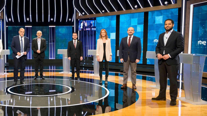Imagen del debate de TVE entre candidatos. (EFE)