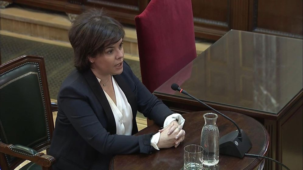Foto: Imagen de la señal institucional del Tribunal Supremo de la exvicepresidenta del Gobierno Soraya Sáenz de Santamaría. (EFE)