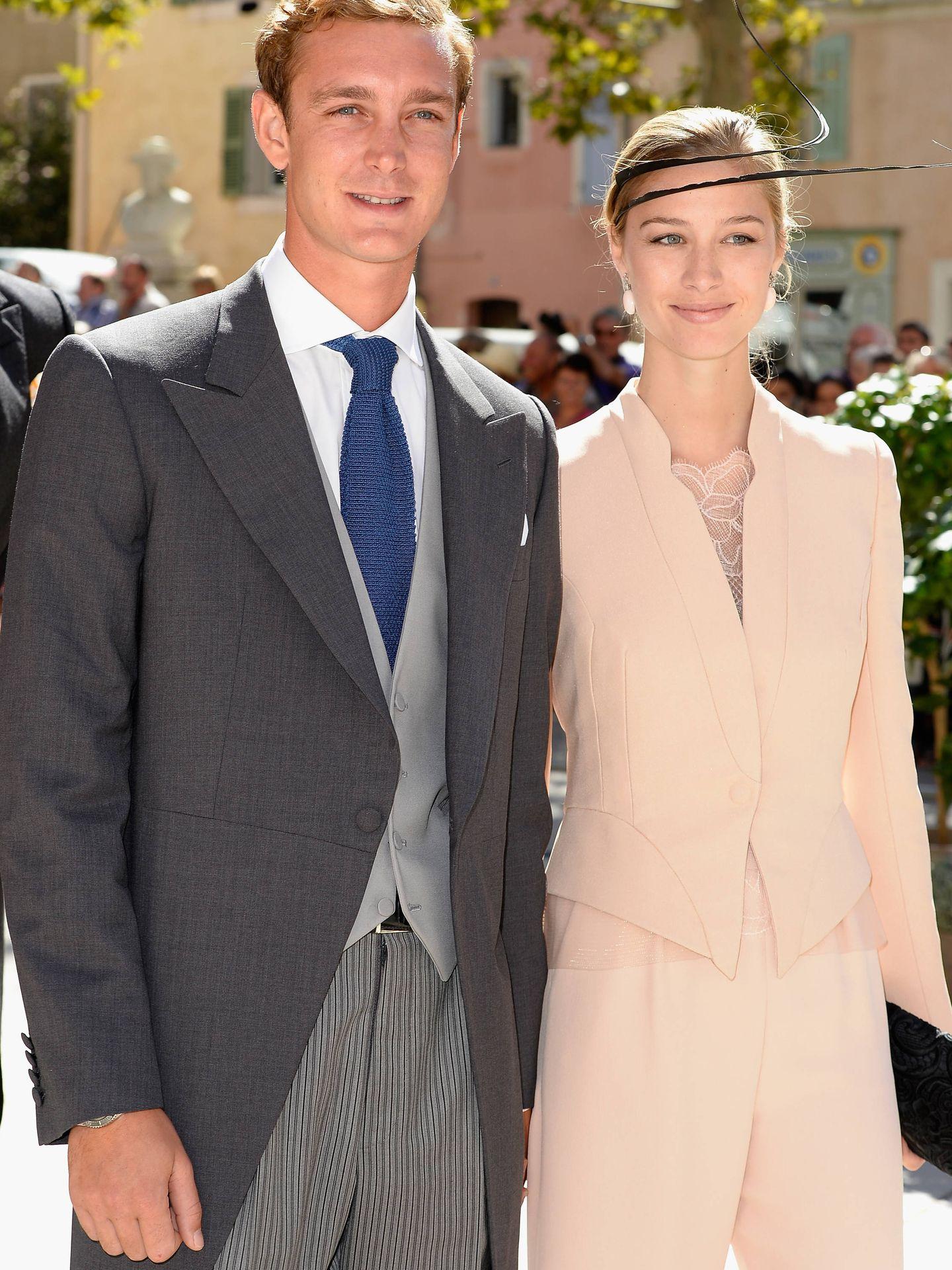 Pierre Casiraghi y Beatrice Borromeo. (Getty)