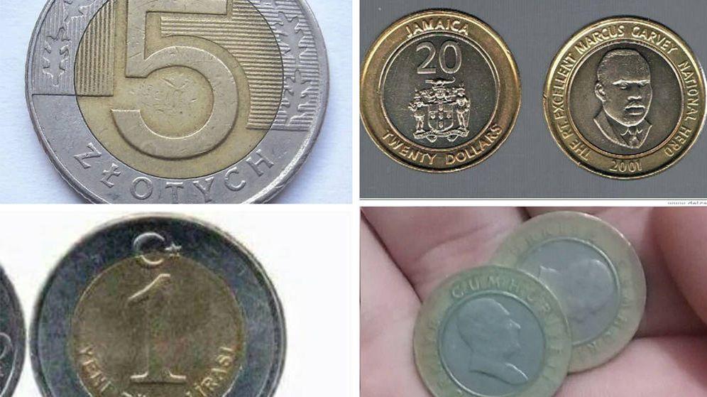 Foto: Muchas monedas acuñadas en otros países se parecen a los euros (Foto: Twitter)